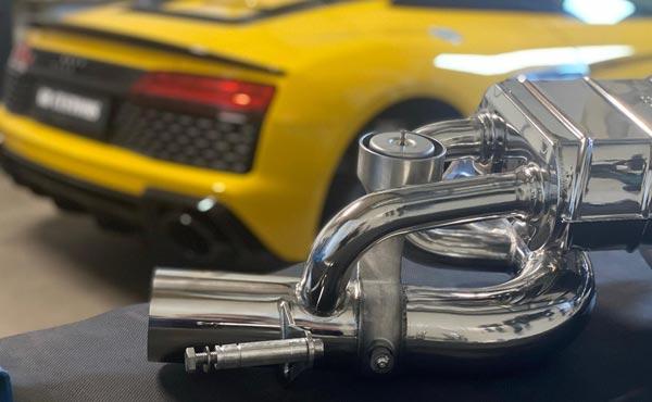 Klepgestuurde uitlaat - Audi R8